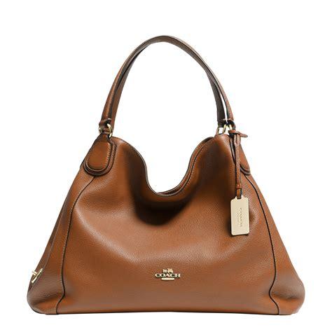 Coach Shoulder Bag lyst coach edie shoulder bag in brown