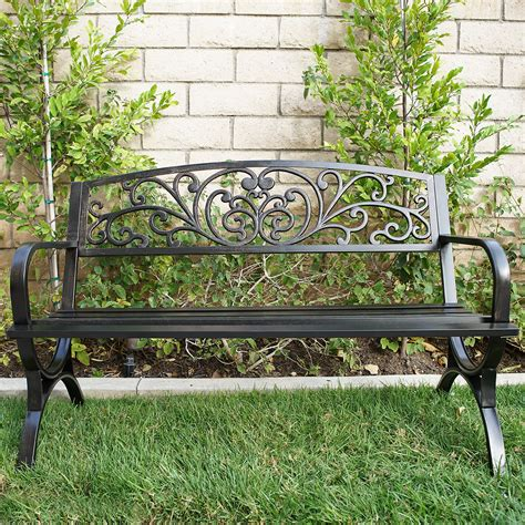 metal garden seats and benches outdoor bench patio metal garden furniture seat bronze ebay
