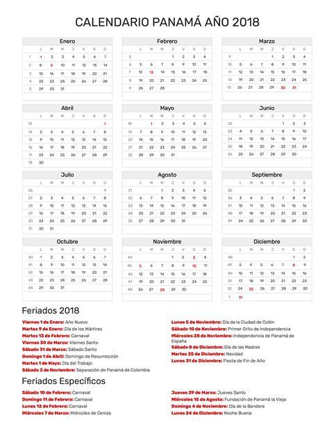Panama Kalendar 2018 Calendario 2018 Panama 28 Images Calendario Escolar