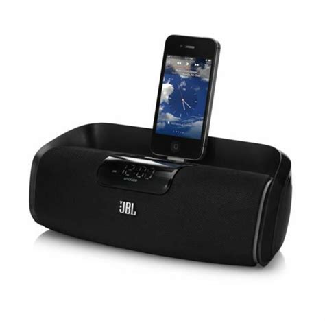1 iphone 2 bluetooth speakers jbl onbeat awake wireless bluetooth speaker dock clock for iphone ipod ebay