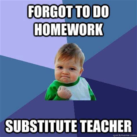 forgot   homework substitute teacher success kid