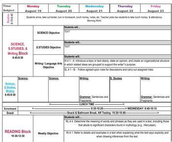 lesson plan template with drop down menu 4th grade common core lesson plan template lesson plan