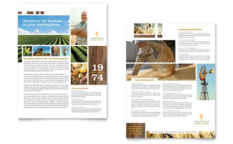 church magazine template farming agriculture datasheet template design