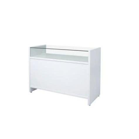 comptoir vitrine flexia blanc l 120 x p 50 x h 90cm