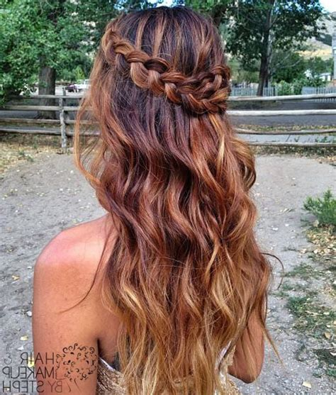 Half Up Hairstyles For Hair by Half Up Half Prom Hairstyles Hairstyle Haare Fein