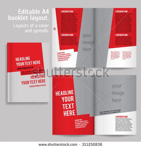 a4 book layout design a4 book layout design template cover stock vector