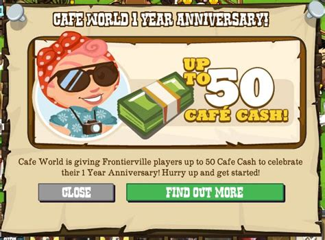 Frontier Sweepstakes Games - cafe world offers frontierville players 50 free cafe cash