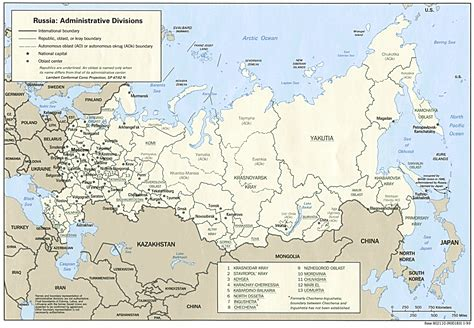 russian map russia
