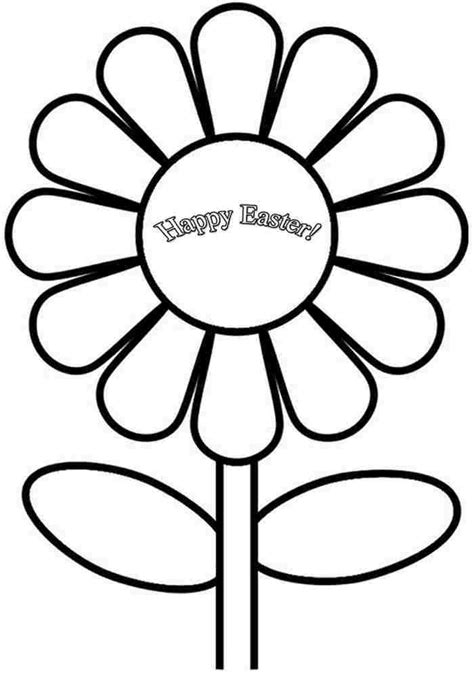 free printable easter flowers free printable colouring pages easter flowers for kids