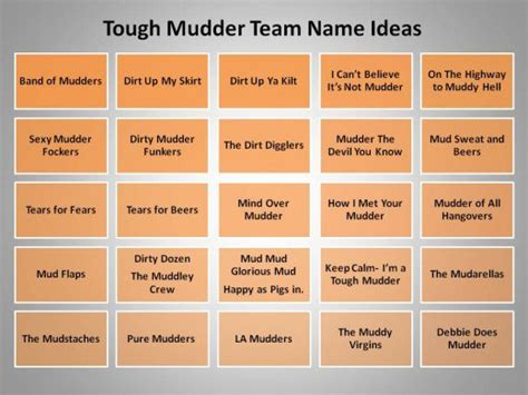 rugged names great team name ideas for tough mudder and mud runs hubpages