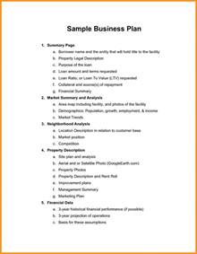 Sections Of A Business Plan Outline by 6 Business Plan Exles Pdf Free Parts Of Resume
