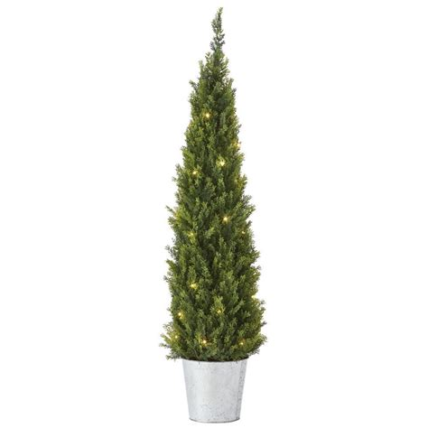 home depot small christmas trees martha stewart living 4 ft pre lit cedar artificial tree 9754510610 the home depot