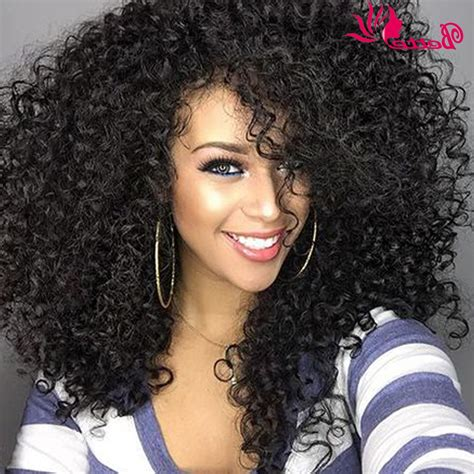 American Curly Weave Hairstyles by Curly Weave Hairstyles With Bangs Hairstyle Ware
