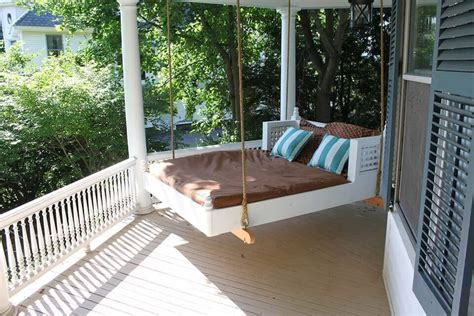 porch swing bed plans excellent outdoor swing bed designs for ultimate relaxation