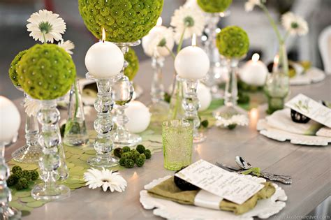 Hochzeitseinladung Jagdlich by Green And White Wedding Tablescape