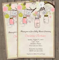 items similar to vintage baby shower invitation vintage jars baby shower bridal shower