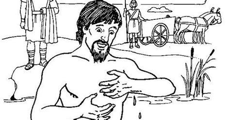free bible coloring pages naaman bible story naaman sunday school bible