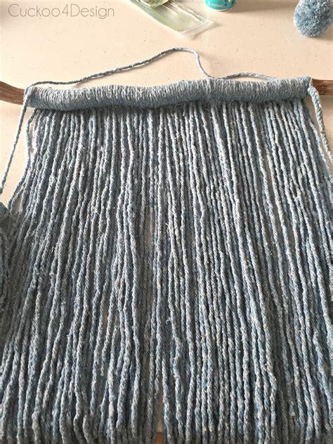 Long Upholstery Needle Mop Head Yarn Wall Hanging Cuckoo4design