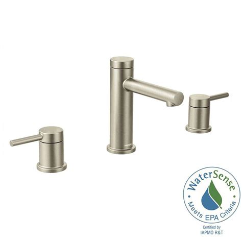 Moen Home Depot by Moen Align 8 In Widespread 2 Handle Bathroom Faucet Trim Kit In Brushed Nickel Valve Not