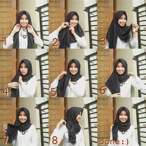 tutorial jilbab segi empat ikat pita tutorial hijab segi empat bentuk pita inilah kreasi