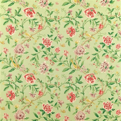 porcelain garden fabric rose fennel dcavpo201 sanderson caverley fabrics collection