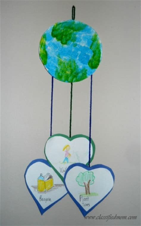 earth day craft for preschool crafts for earth day mobile craft