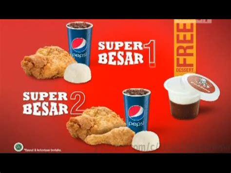 Tv Besar iklan kfc free dessert tiap pembelian paket besar