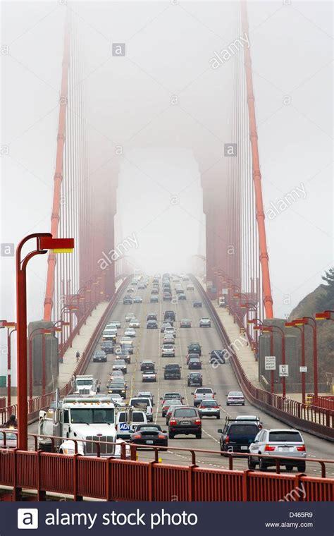san francisco traffic map live golden gate bridge with traffic in the fog san francisco