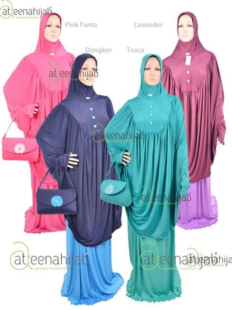 Mukena Nilon jilbab anak ready stok makassar