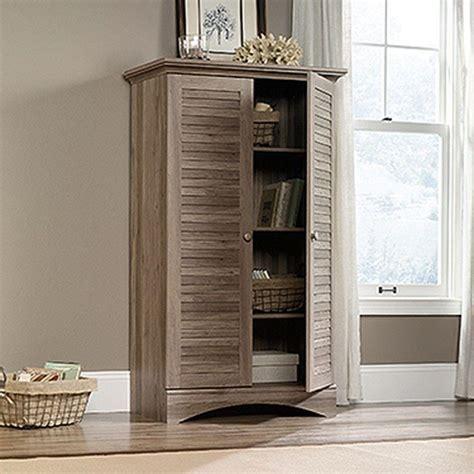 sauder kitchen furniture sauder harbor view antiqued storage cabinet 416825 the home depot