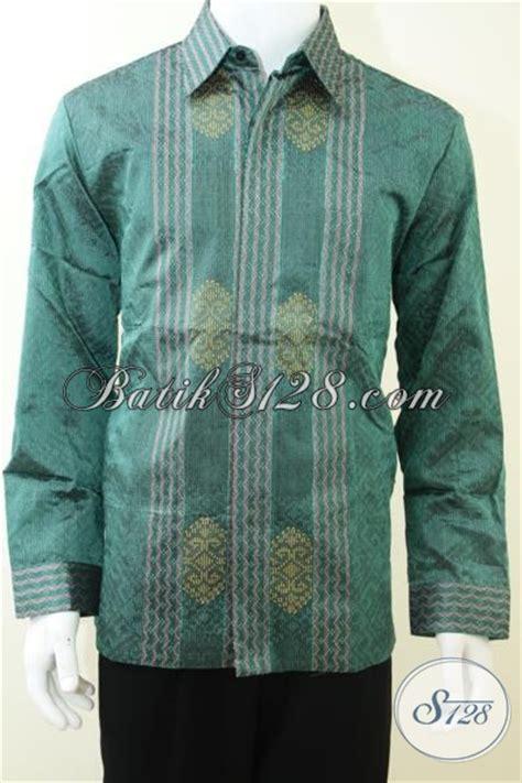 Kemeja Batik Pria Lengan Panjang Semata Wayang Warna Merah Ukuran 145 jual kemeja batik lengan panjang warna hijau busana tenun mewah untuk pria muda dan