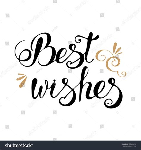 Best Image Search For Best Wishes Lettering Typography Vector Clipart For Cards Ink Posters Design
