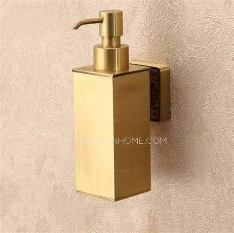 modern bathroom soap dispenser bathroom polished brass wall mount soap dispensers