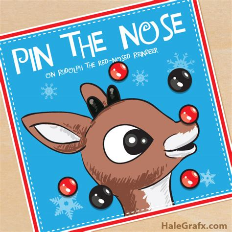 printable reindeer games free free printable christmas pin the nose on rudolph