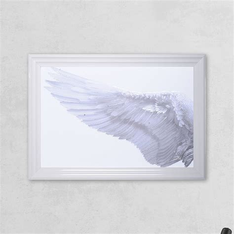 shh interiors left framed wing print with liquid