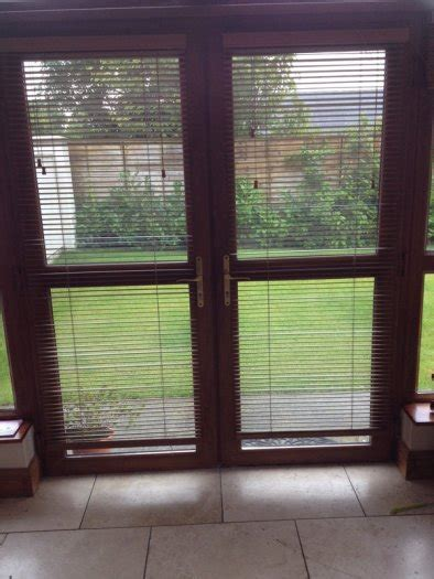 Blinds That Open From Top And Bottom Golden Oak Pvc Double Doors With Blinds With 1818mm Height