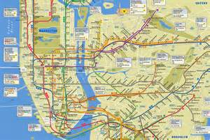 New York Subway Map With Streets by New York City Subway Map