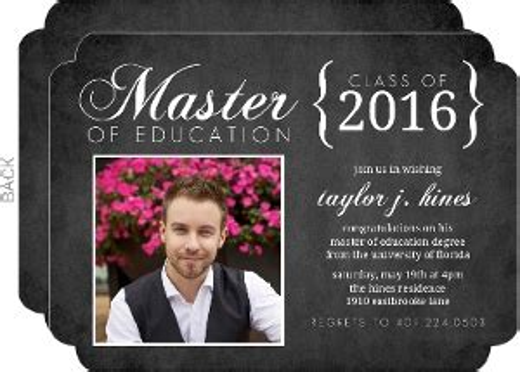 Mba Announcement Wording by Graduate School Graduation Announcements Invitations