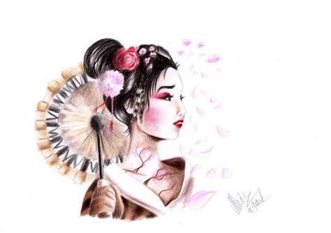 japanese girl tattoo japanese by yunakidraw on deviantart
