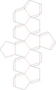 dodecahedron template map projections polyhedral maps in paper
