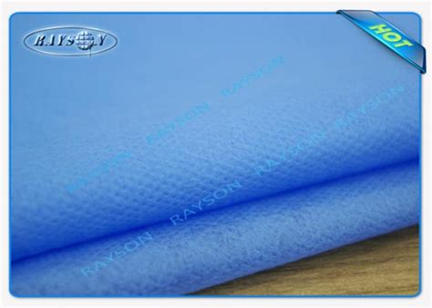Pp Bedsheet Sprei Chequer Blue 100 polypropylene blue disposable bed sheet for hospital