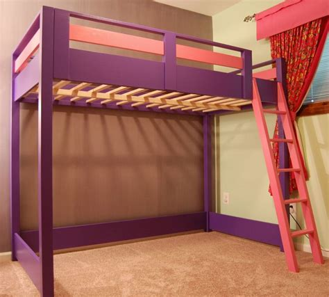 bunk bed with space underneath diy loft bed a loft bed is a great space saver for a kid