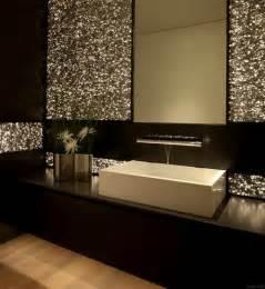 home glamorous bathroom decor with brown vanity