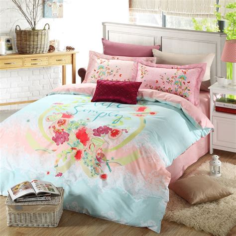 affordable comforters discount floral girls bedding set two color ebeddingsets