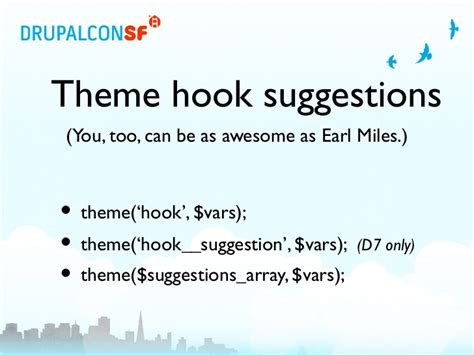 drupal theme hook suggestions not working default theme implementations a guide for module