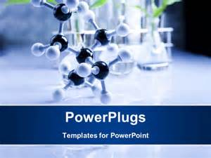 powerpoint template a long black nd white molecule on a