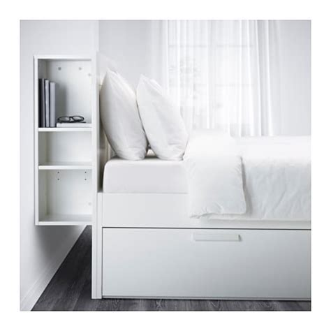 brimnes bed frame with storage headboard brimnes bed frame w storage and headboard white leirsund