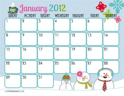 printable calendar cute cute printable calendar frosting facials