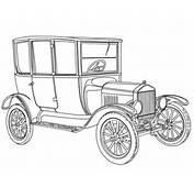 1919 Ford Model T Coloring Page  Free Printable Pages