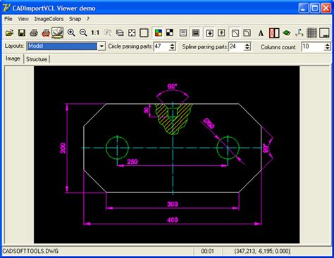 2d cad 2d 3d cad import vcl at delphi development of directory of shareware dxf dwg hpgl2
